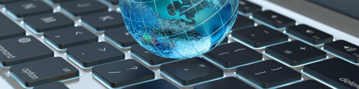 Laptop Keyboard with Globe